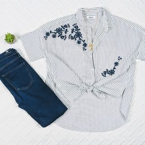 $80 Madewell Embroidered Oversized Woven Top